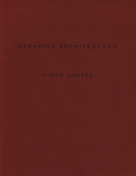 SPEAKING ARCHITECTURE